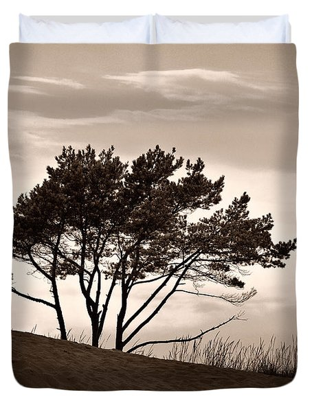 Duvet Cover featuring the photograph Yyteri Evening by Jouko Lehto