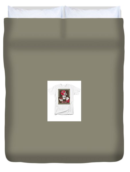 Dawgs Poster Duvet Cover by Herb Strobino