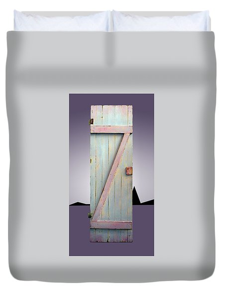 Z Door To New Frontiers Duvet Cover by Asha Carolyn Young and Daniel Furon