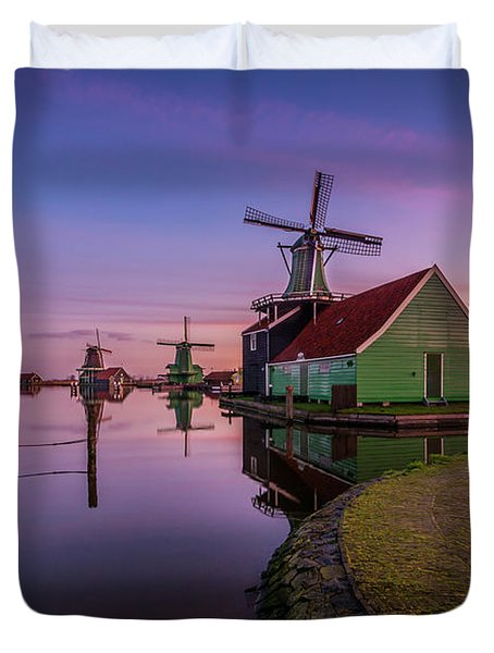 Zaanse Schans Holiday  Duvet Cover