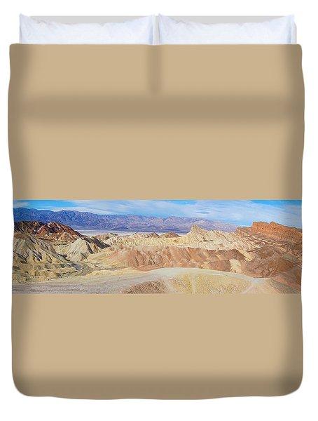 Zabriskie Point Panoramic Duvet Cover