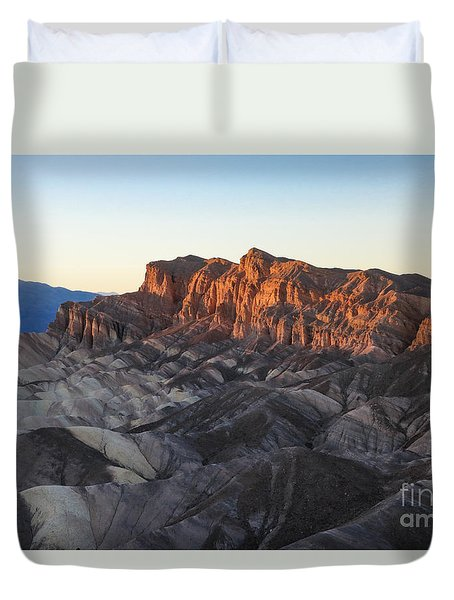 Zabriskie Point At Dusk Duvet Cover