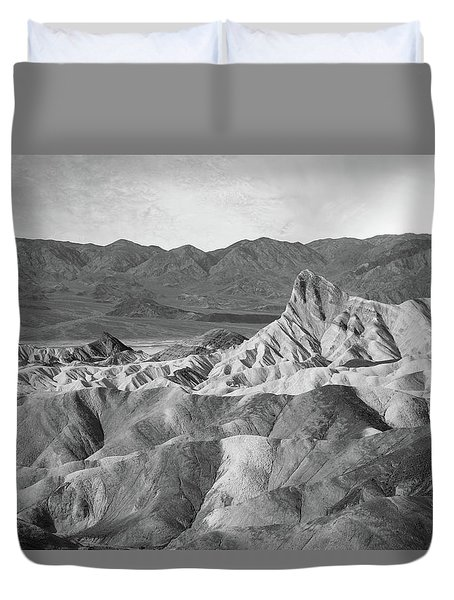 Zabriskie Point Landscape Duvet Cover by Marius Sipa