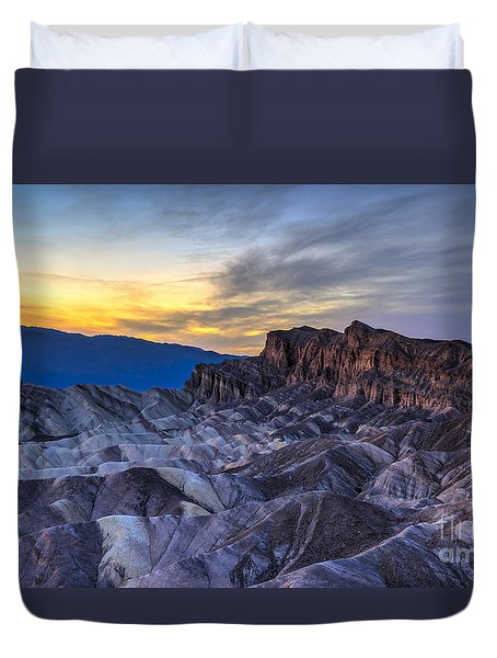 Zabriskie Point Sunset Duvet Cover by Charles Dobbs