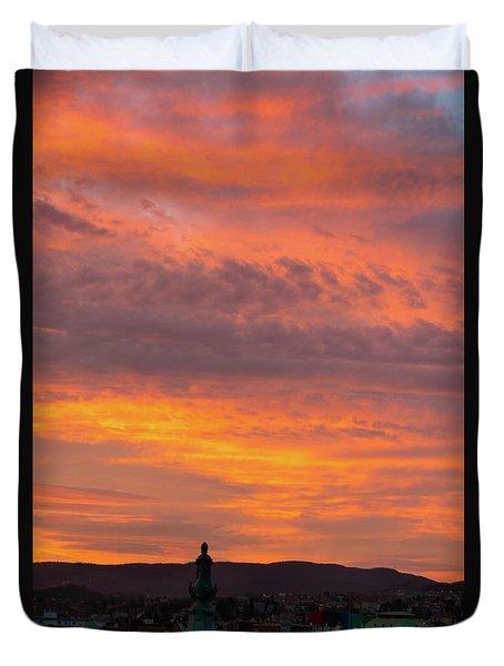 Zagreb Sunset 5 Duvet Cover