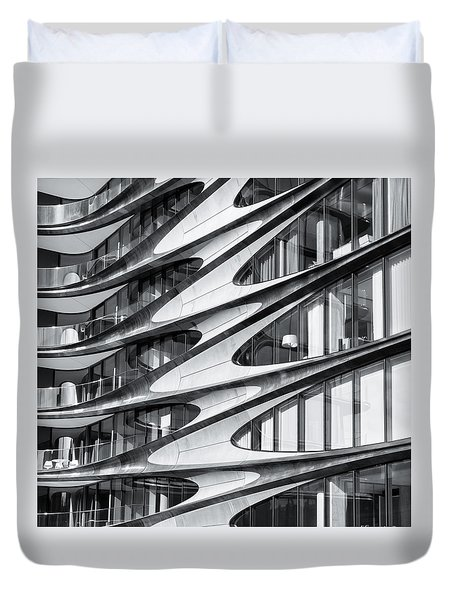 zaha hadid Architecture in NYC Duvet Cover