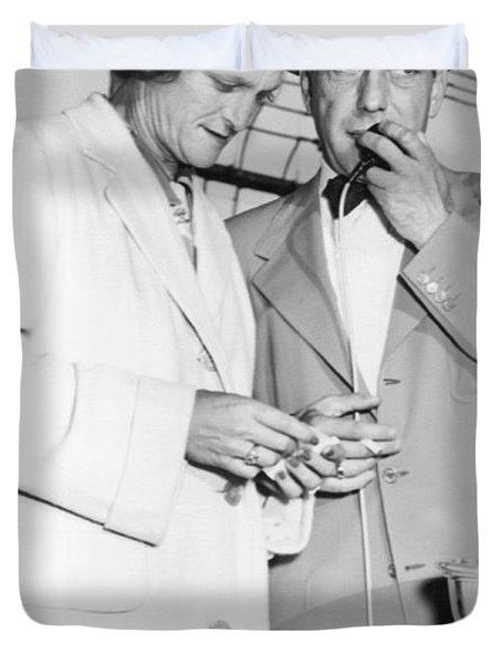 Zaharias And Bogart Duvet Cover