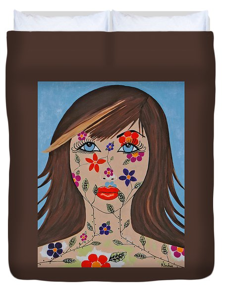 Zahir - Contemporary Woman Art Duvet Cover