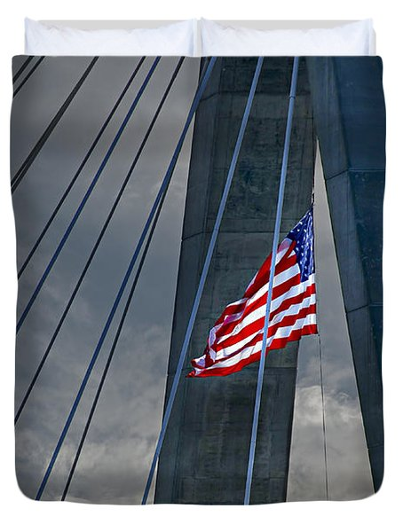 Zakim Bridge Boston Duvet Cover by Elena Elisseeva