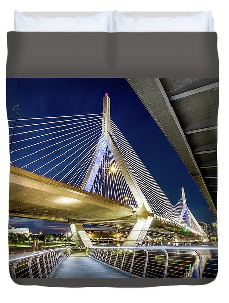 Zakim Bridge From Bridge Under Another Bridge Duvet Cover