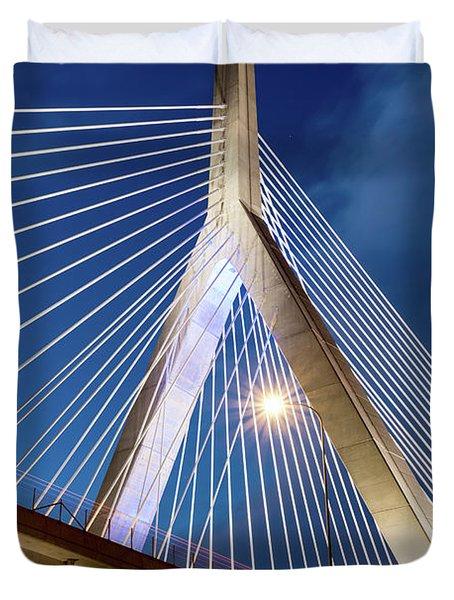 Zakim Bridge Upclose Duvet Cover