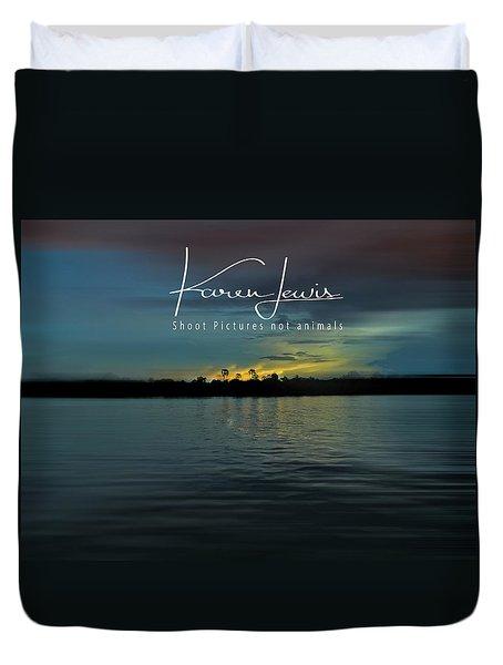 Duvet Cover featuring the photograph Zambezi Sunset by Karen Lewis