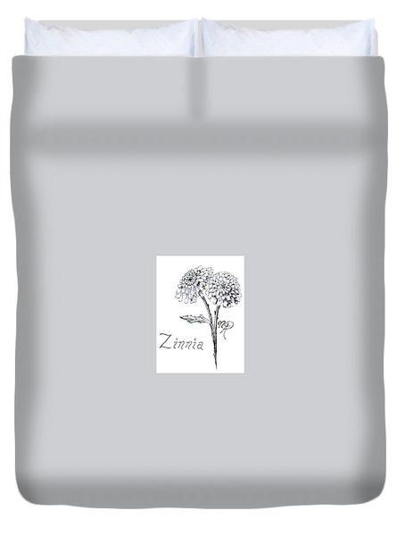 Zannie Zinnia Duvet Cover
