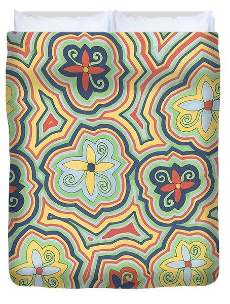 Zany Garden Duvet Cover
