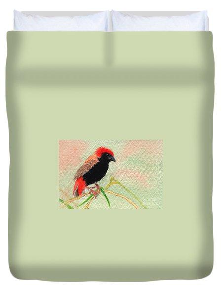 Zanzibar Red Bishop Duvet Cover
