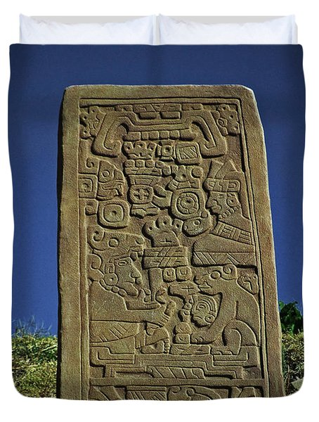 Zapotec History Duvet Cover by Juergen Weiss