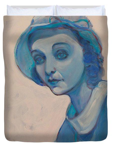 Zasu In Blue Duvet Cover