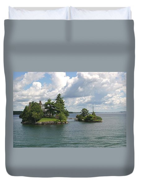 Duvet Cover featuring the photograph Zavikon Island by Living Color Photography Lorraine Lynch