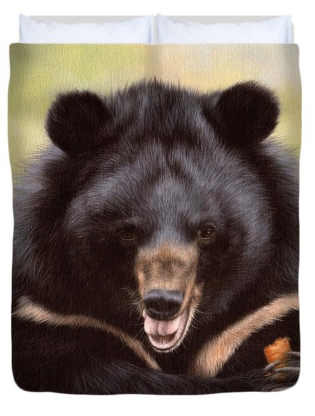 Zebedee Moon Bear - In Support Of Animals Asia Duvet Cover