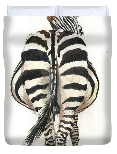 Zebra Back Duvet Cover