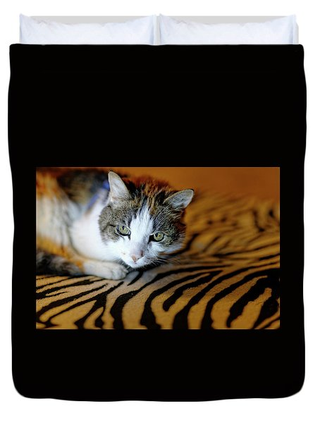 Zebra Cat Duvet Cover