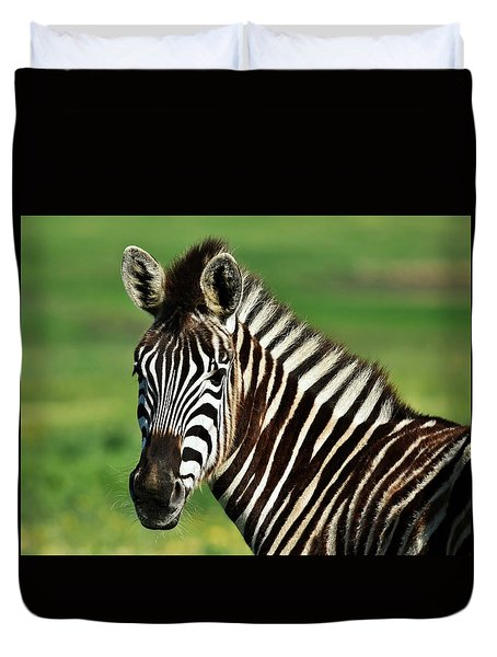 Zebra Close Up Duvet Cover