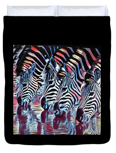Zebra Dazzle Duvet Cover