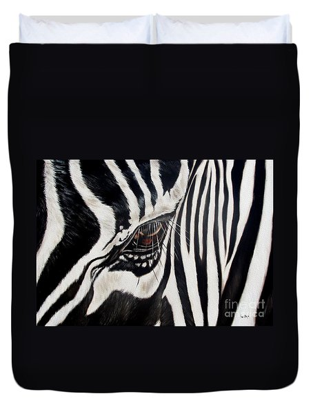 Zebra Eye Duvet Cover