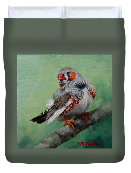 Zebra Finch Miniature Duvet Cover