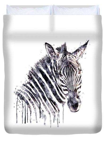 Zebra Head Duvet Cover