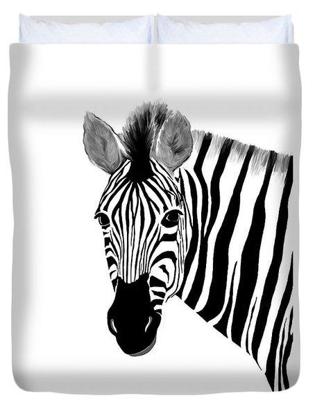 Zack A. Zebra Duvet Cover