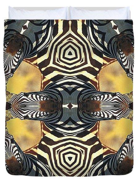 Zebra II Duvet Cover by Maria Watt