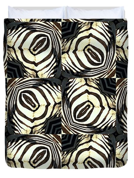 Zebra IIi Duvet Cover by Maria Watt