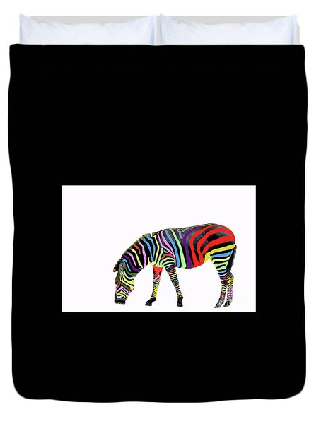 Duvet Cover featuring the photograph Zebra In My Dreams by Bonnie Barry