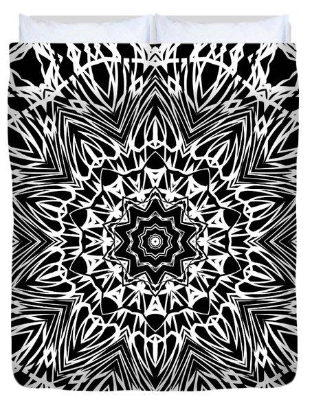 Zebra Inspired Kaleidoscope Duvet Cover