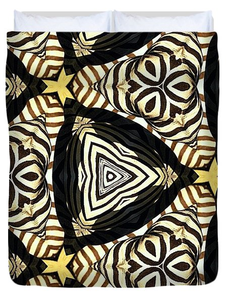Zebra Iv Duvet Cover by Maria Watt