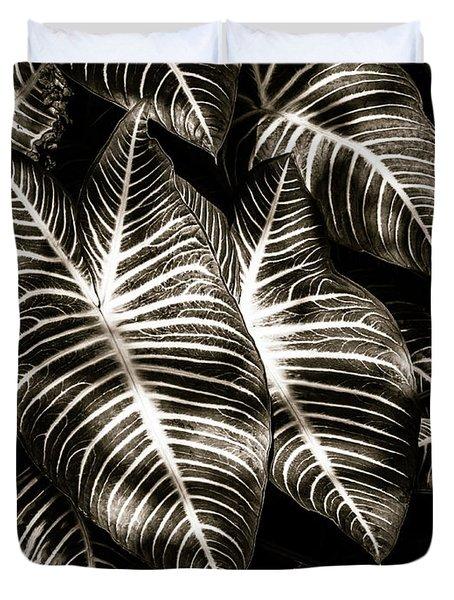 Zebra Leaves Duvet Cover