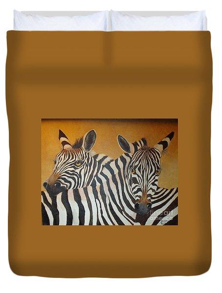 Zebra Love Duvet Cover