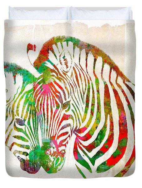 Zebra Lovin Duvet Cover by Nikki Smith