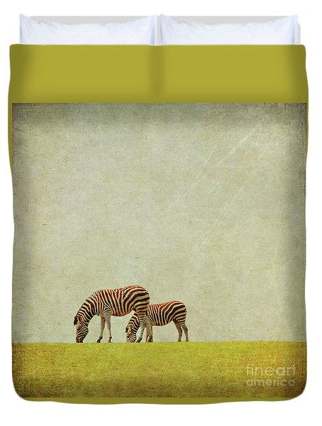 Zebra Duvet Cover by Lyn Randle