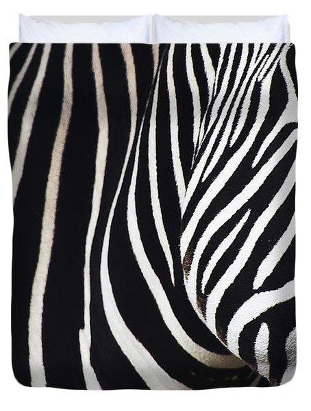 Zebra Close-up Duvet Cover