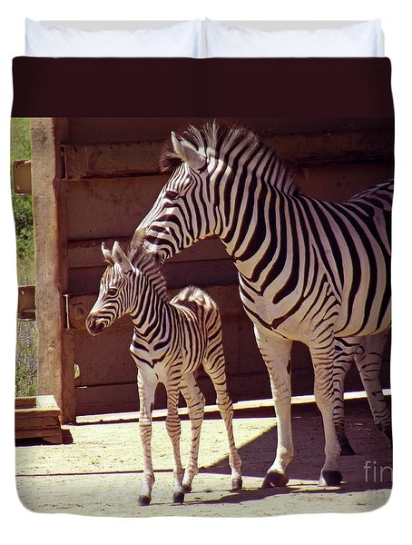 Zebra Mom And Baby Duvet Cover