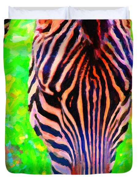 Zebra . Photoart Duvet Cover