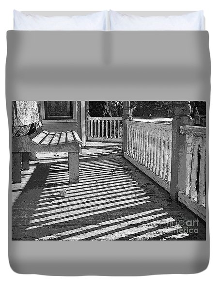 Zebra Porch Duvet Cover by Betsy Zimmerli