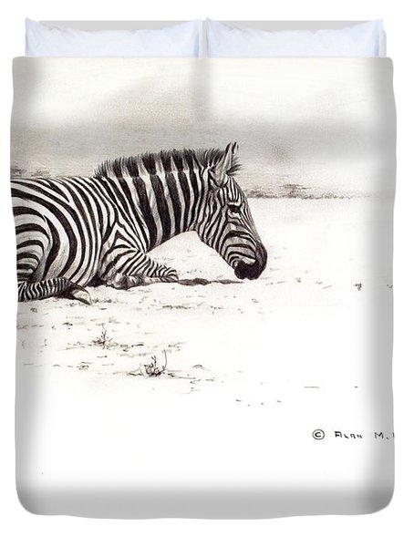 Zebra Sketch Duvet Cover