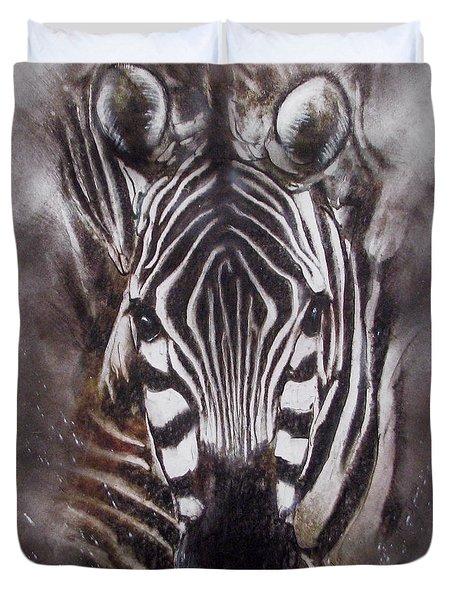 Zebra Splash Duvet Cover