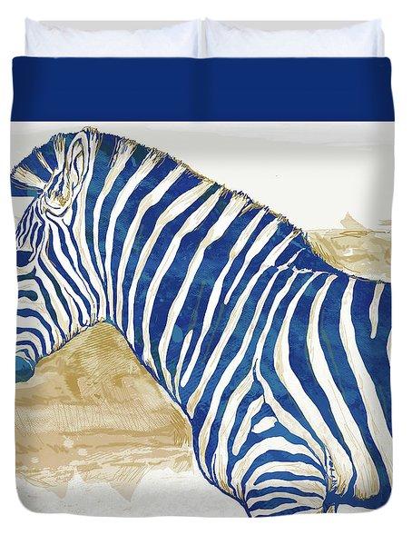 Zebra - Stylised Pop Art Poster Duvet Cover