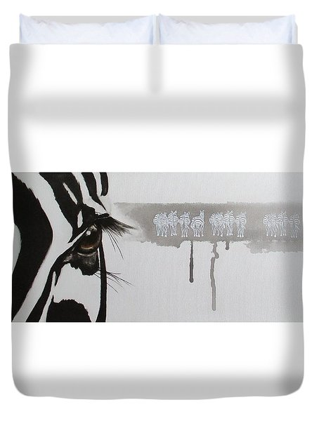 Zebra Tears Duvet Cover