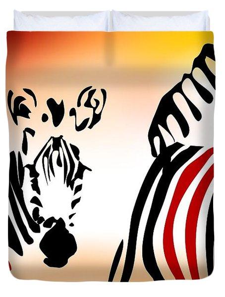 Zebra Theme Duvet Cover