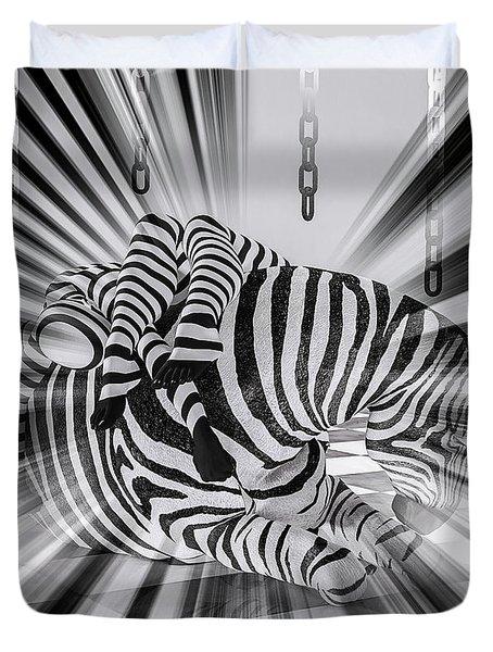 Zebra Time Duvet Cover